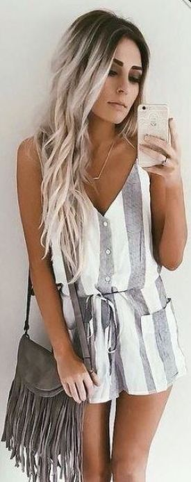 Striped rompers make the cutest summer outfits!