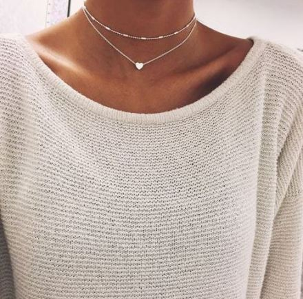 Pairing a sweater with a choker is one of the easiest ways to wear a choker!