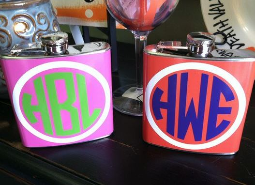 These monogram flasks are so cute!