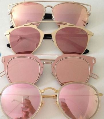 These cheap affordable sunglasses are pink and gorgeous!