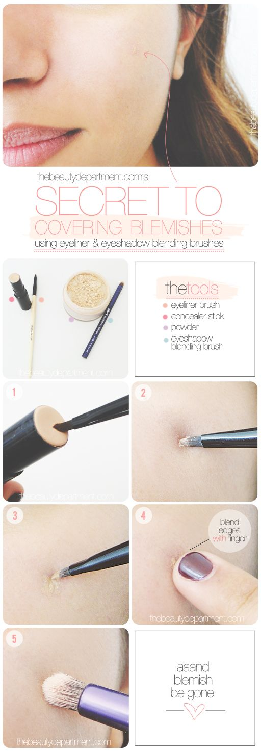 Spot concealing is a quick alternative to a full face of makeup!