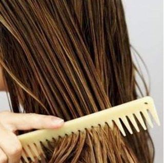 Using a wide tooth comb on wet hair is one of the best tips for achieving beautiful hair!