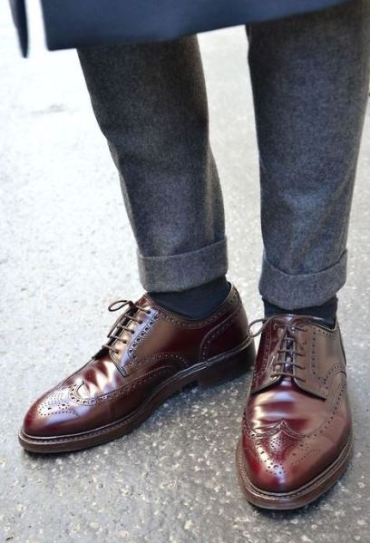 Guy's wing tip shoes are amazing!
