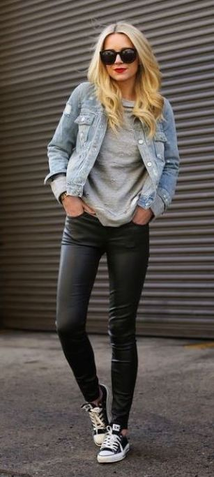 20 Ways To Wear Leather Leggings With Your Outfit Society19