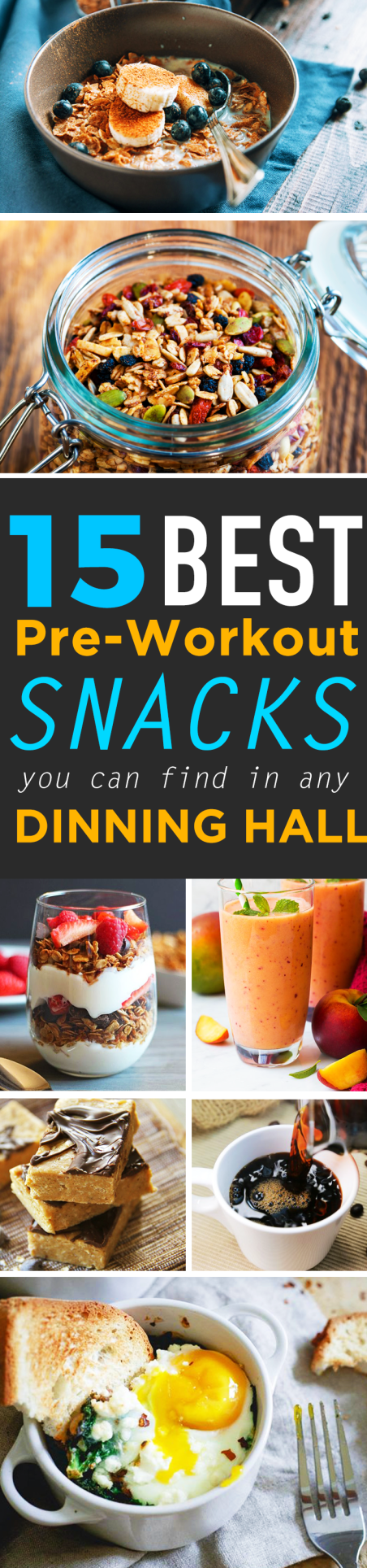 15 best pre-workout snacks you can find in any dinning hall