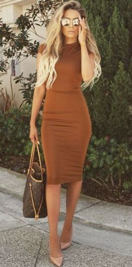 Midi dresses are cheap dresses that are casual but cute!