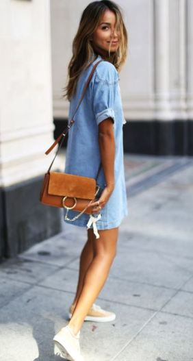 Denim dresses are cheap dresses that are casual but cute!
