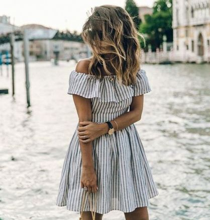 Pin stripe dresses are cheap dresses that are adorable for the summer!