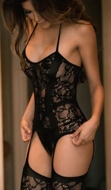 This gartered lingerie is the perfect sexy lingerie piece!