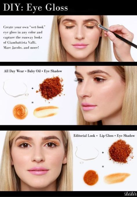 Glossy eyeshadow lids are among the top makeup trends for 2017!