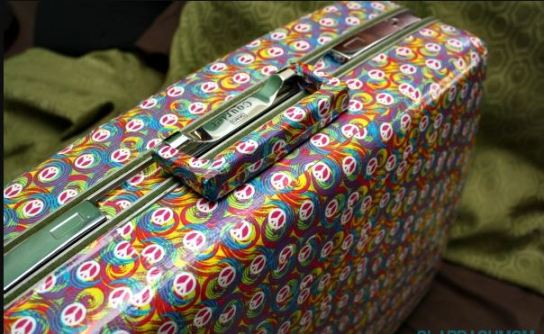 Duct tape is cute ways to personalize your luggage!