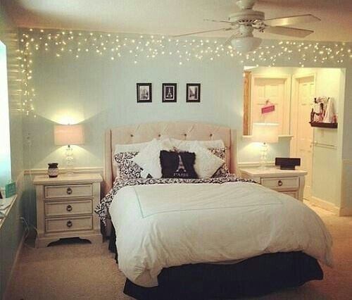 Icicle lights are cute and easy ways to decorate your dorm room!
