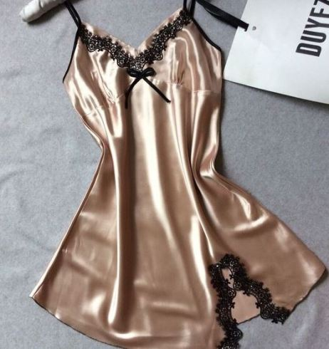 This silk slip is the perfect sexy lingerie piece!