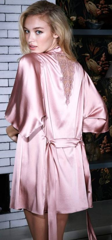 This silk robe is the perfect sexy lingerie piece!
