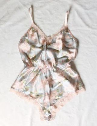 This silky romper is the perfect sexy lingerie piece!