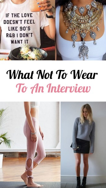 Here's exactly what not to wear to an interview
