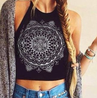 Bohemian halter tops are such cute crop tops!