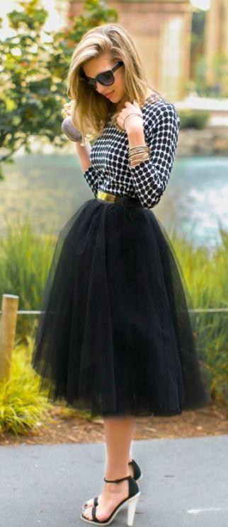 Midi tutu skirts are greats ways to look like a million bucks!