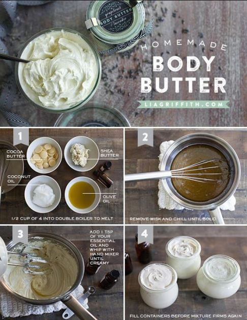 This homemade body butter is perfect for a DIY spa night!