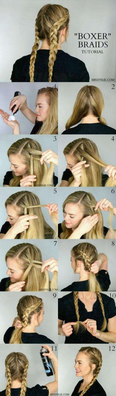 boxer or dutch braids make such cute hairstyles for long hair!