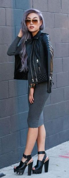 Chunky heels are really cute for edgy outfits!