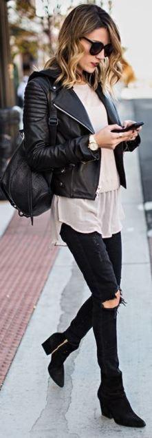 Leather jackets are great for ways to look like a million bucks!