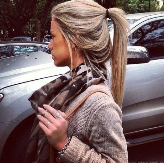 Loose ponytails are a great way to grow your hair longer!
