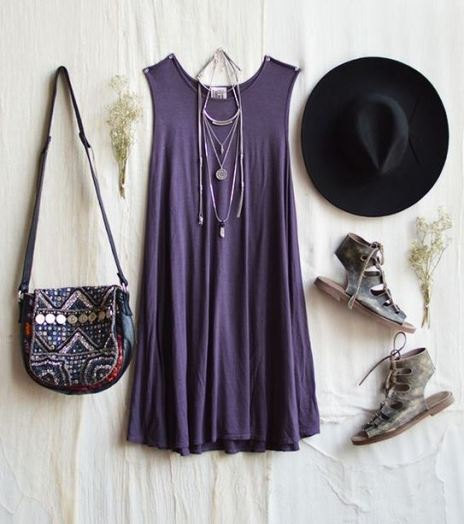 A bohemian look is perfect for cute outfits for school in the spring!