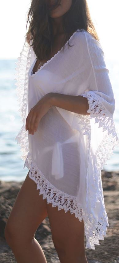 Sheer cover ups make such great beach outfits!