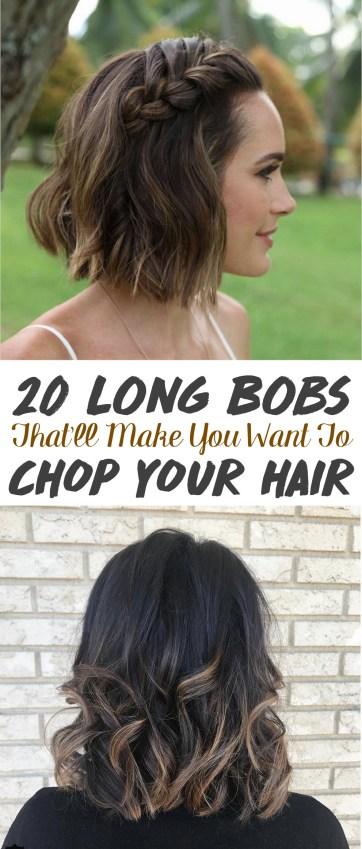 These cute long bob pictures will make you want to cut off all of your hair!