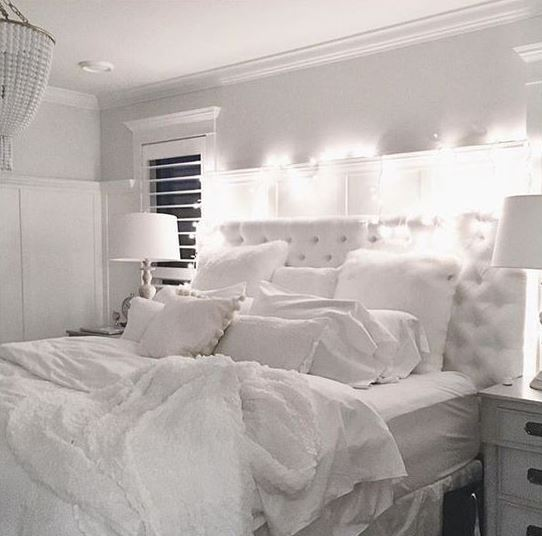 All white is a great way to make your bedroom cozy!