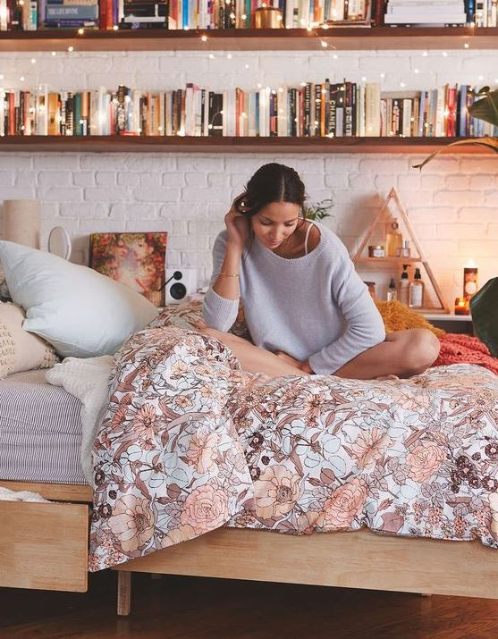 Fun patterns are great ways to make your bedroom cozy!