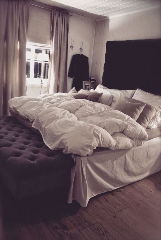 Down comforters are great ways to make your bedroom cozy!