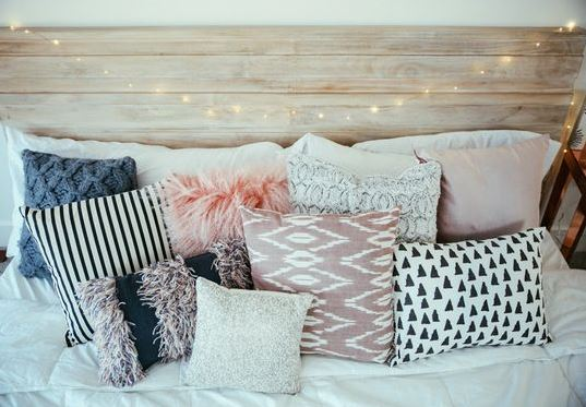 Fun pillows are great ways to make your bedroom cozy!