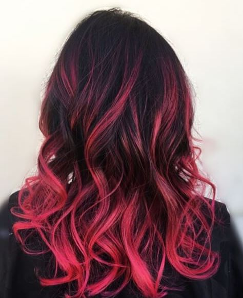 Pink is super fun for brunette ombre hairstyles!