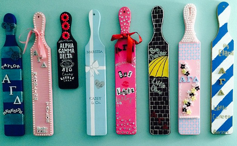 Amazing and unique DIY big and little sorority paddles! These sorority paddle ideas are super cute and great inspiration for decorating your own paddle!