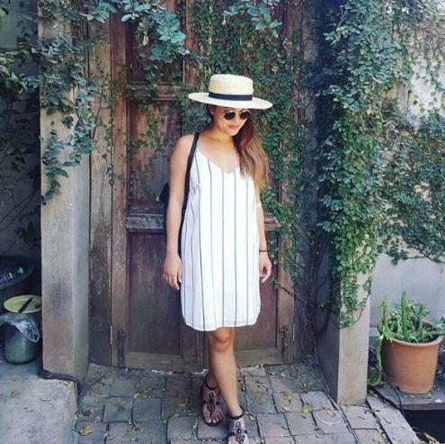Stripes are super cute ways to wear slip dresses!