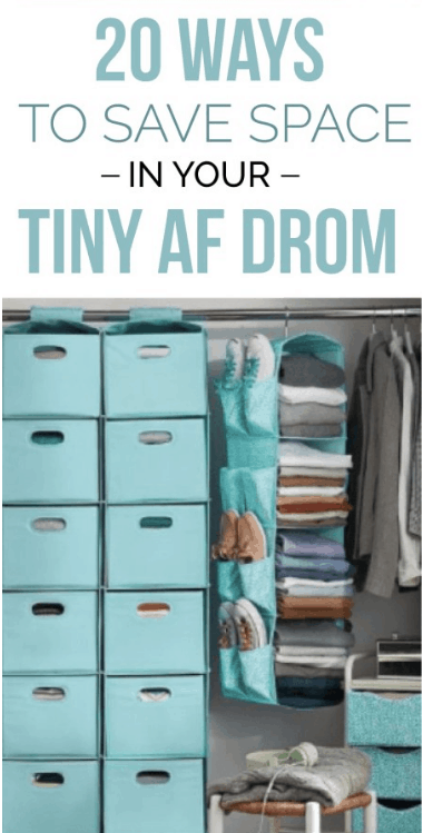 Here are 20 Space Saving Hacks For Your Tiny AF Freshman Dorm