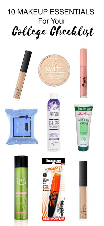 These are the makeup essentials you need for your college checklist!
