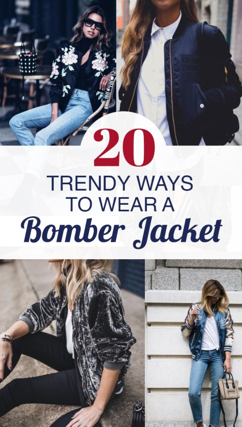 These bomber jacket outfits are so cute!