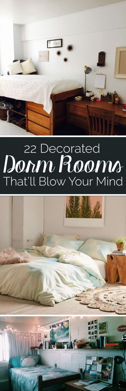 Your dorm room is a representation of you, so how you decorate it matters. These decorated dorm rooms will blow your mind!