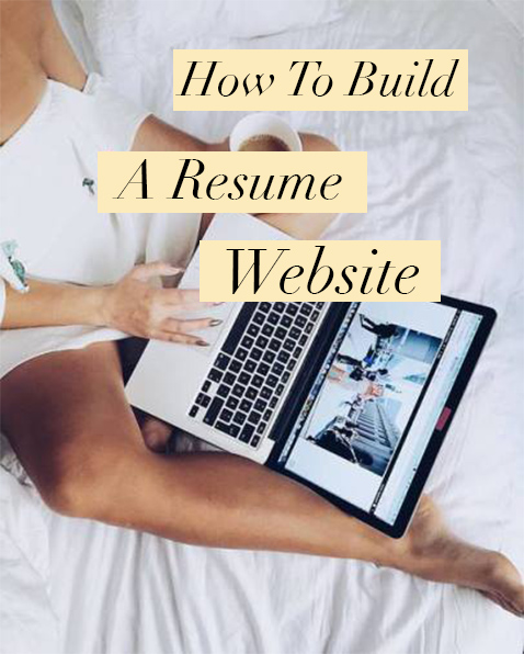 how to build a resume website