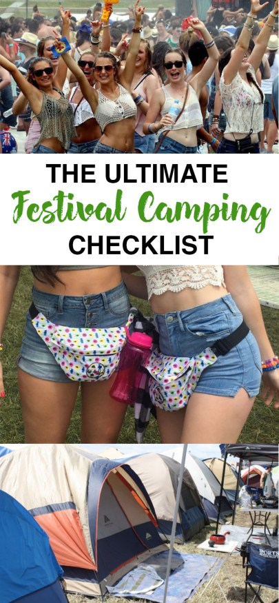 This festival camping checklist is everything that you need to know and more!