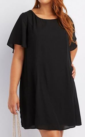 Plus size black dress - one of the college essentials for curvy girls
