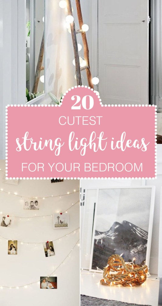 If you love string lights, then you will love these cute string light ideas for your bedroom!