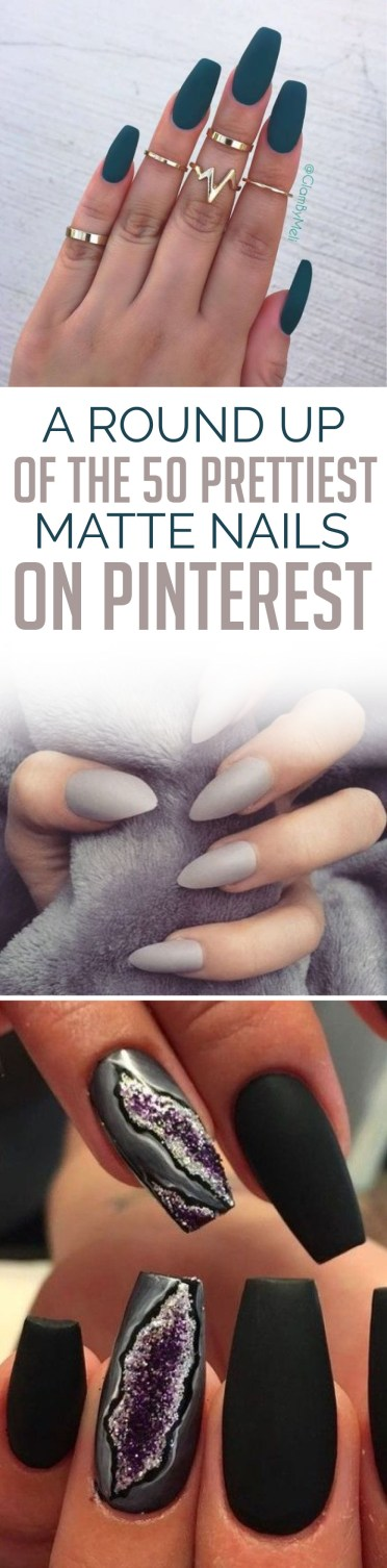 Here are the prettiest matte nails on pinterest!