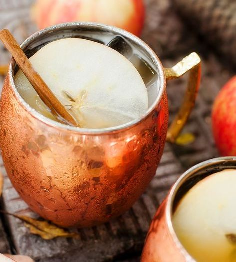 These Moscow Mules are the perfect fall cocktail!