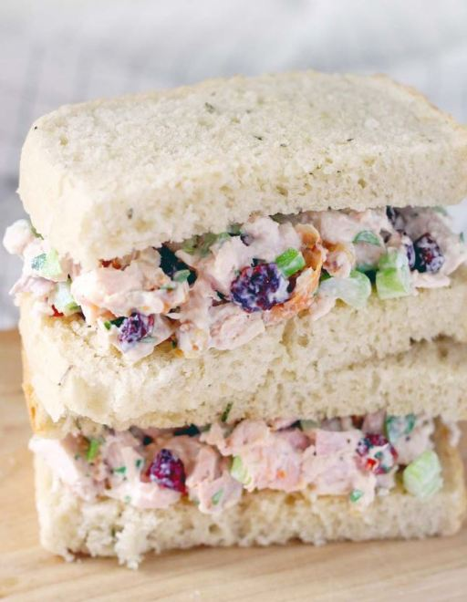 Try out this turkey salad sandwich!