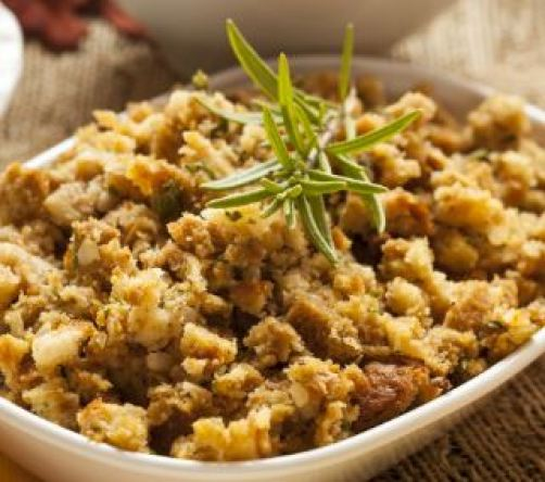 Stuffing is one of the best Friendsgiving dishes!