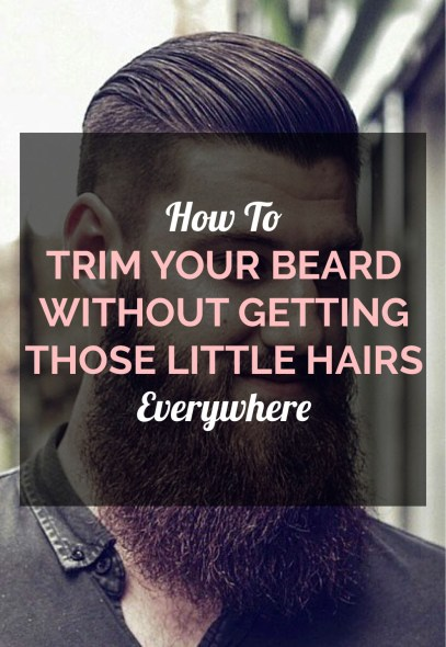This is how you trim your bead without the little hairs everywhere!